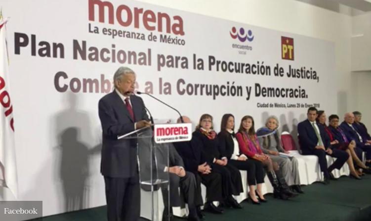 Asiste Palafox a presentación de Plan Anticorrupción de AMLO
