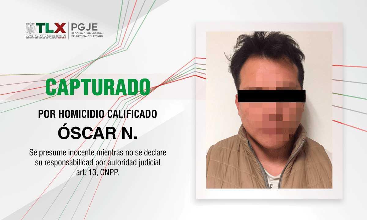 Aprehende PGJE a imputado por homicidio calificado de 2019
