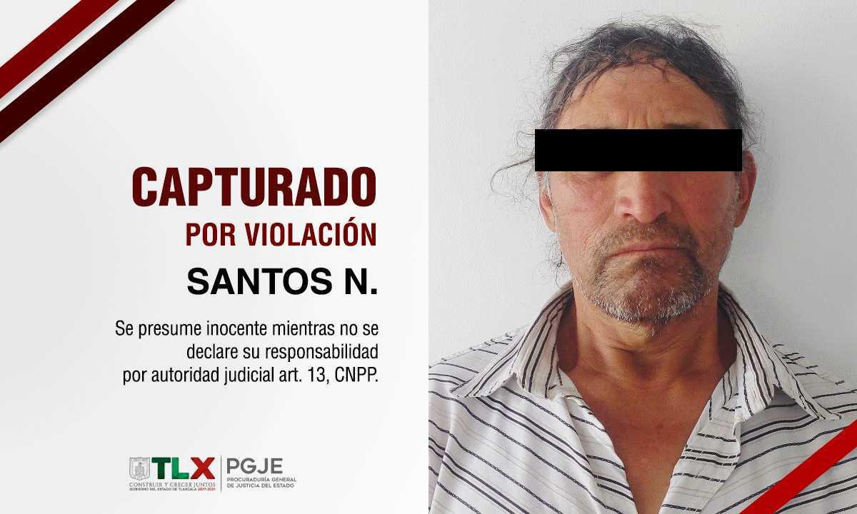 Captura PGJE a imputado por el delito de violación