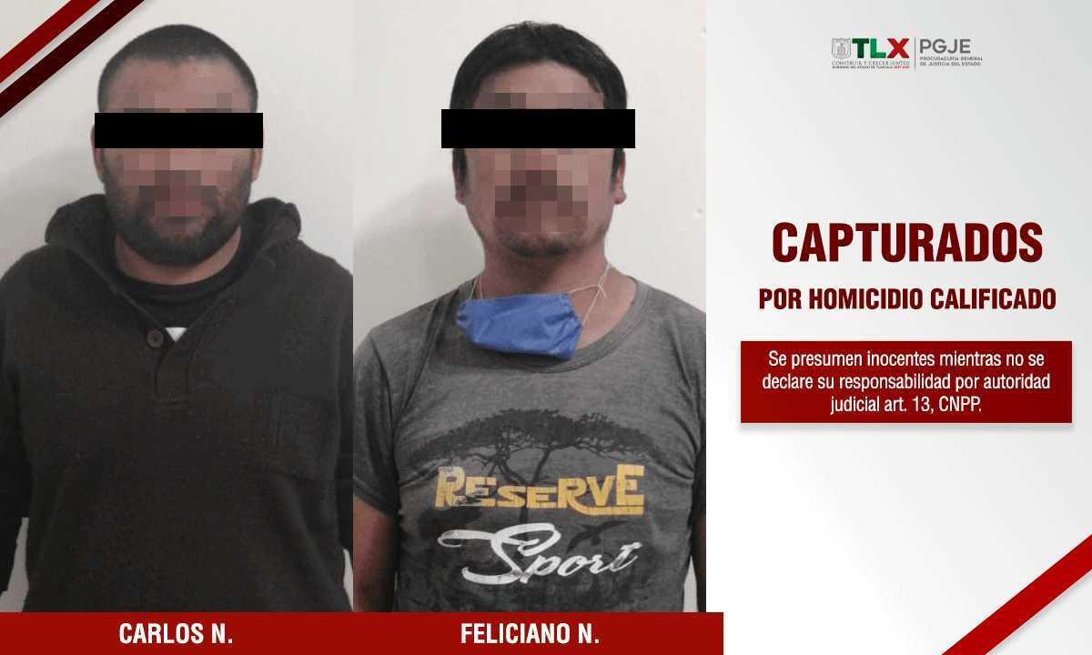 Captura PGJE a presuntos homicidas de un hombre en el Carmen Tequexquitla