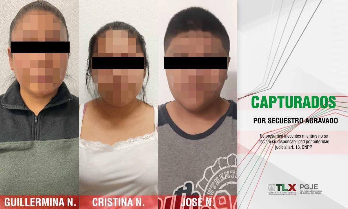 Capturan a tres peligrosos secuestradores en Tlaxcala