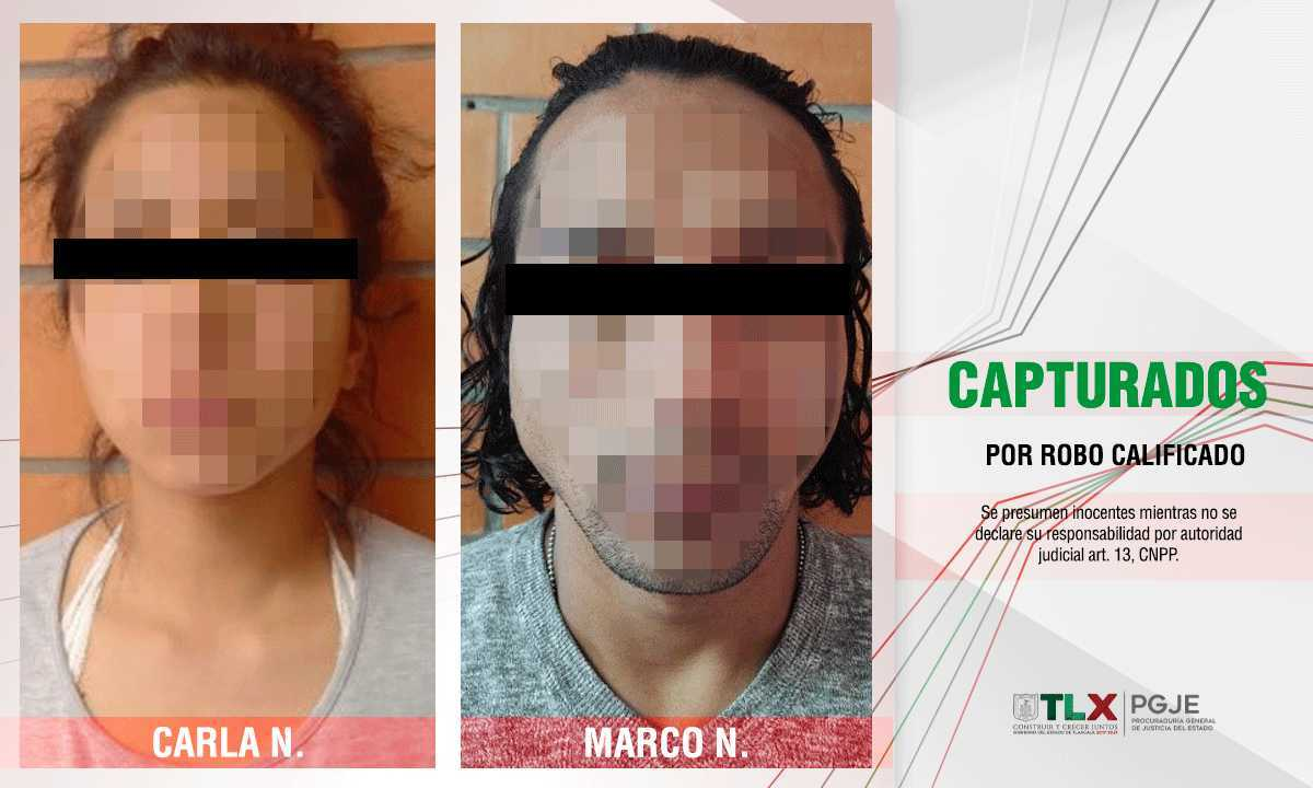 Capturan a pareja involucrada en robo a CAPAMA