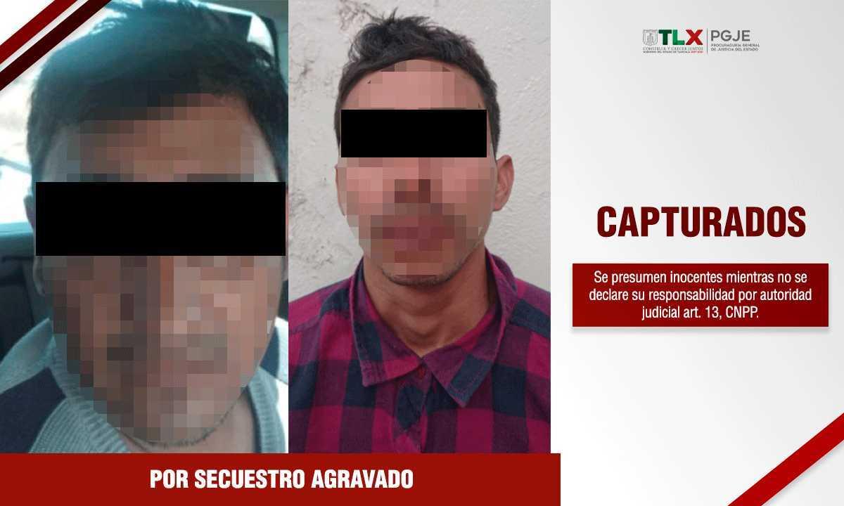 Capturan a dos hombres por secuestro y liberan a dos víctimas