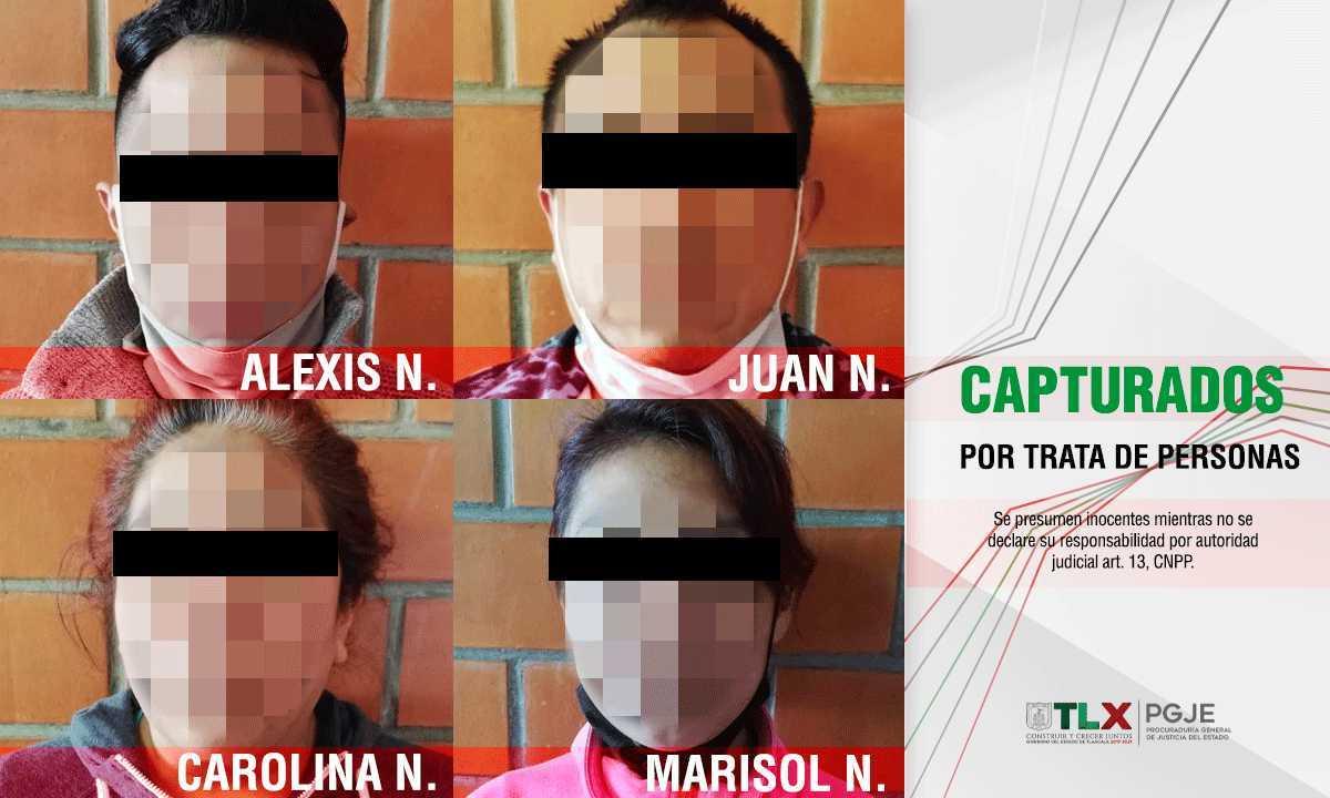 Detienen en Tlaxcala a una familia completa de secuestradores y tratantes de blancas