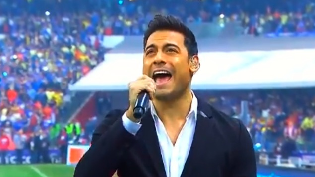 ¿Carlos Rivera hizo playback en la final de la Liga MX?