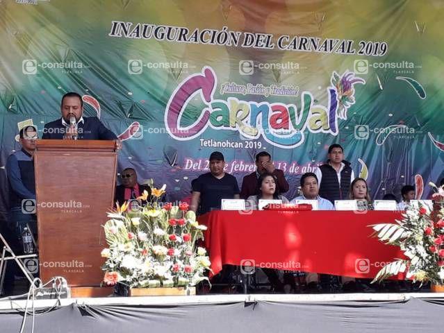 """Mendieta Lira puso en marcha las fiestas carnavalescas """"Tetlanohcan 2019"""""""