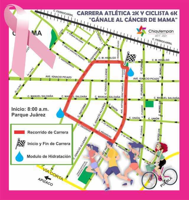 Ayuntamiento da a conocer la ruta de la carrera Gánale al Cáncer este 20 de octubre