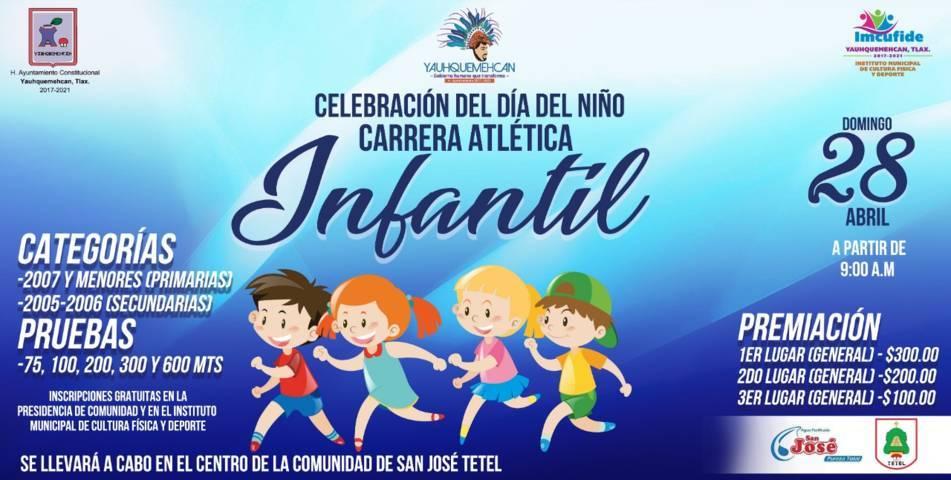 Ayuntamiento invita a los niños a la carrera Atlética Infantil este 28 de abril
