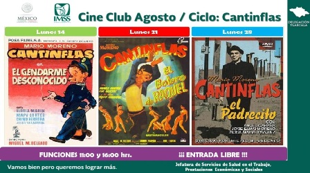 Cine Club de IMSS en agosto, dedicado a Cantinflas