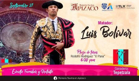 Se presentará el colombiano Luis Bolívar en la Romería Taurina Apizaco