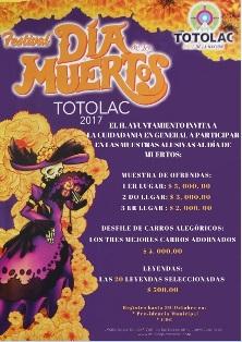 Celebra Totolac Día de Muertos con muestra de ofrendas