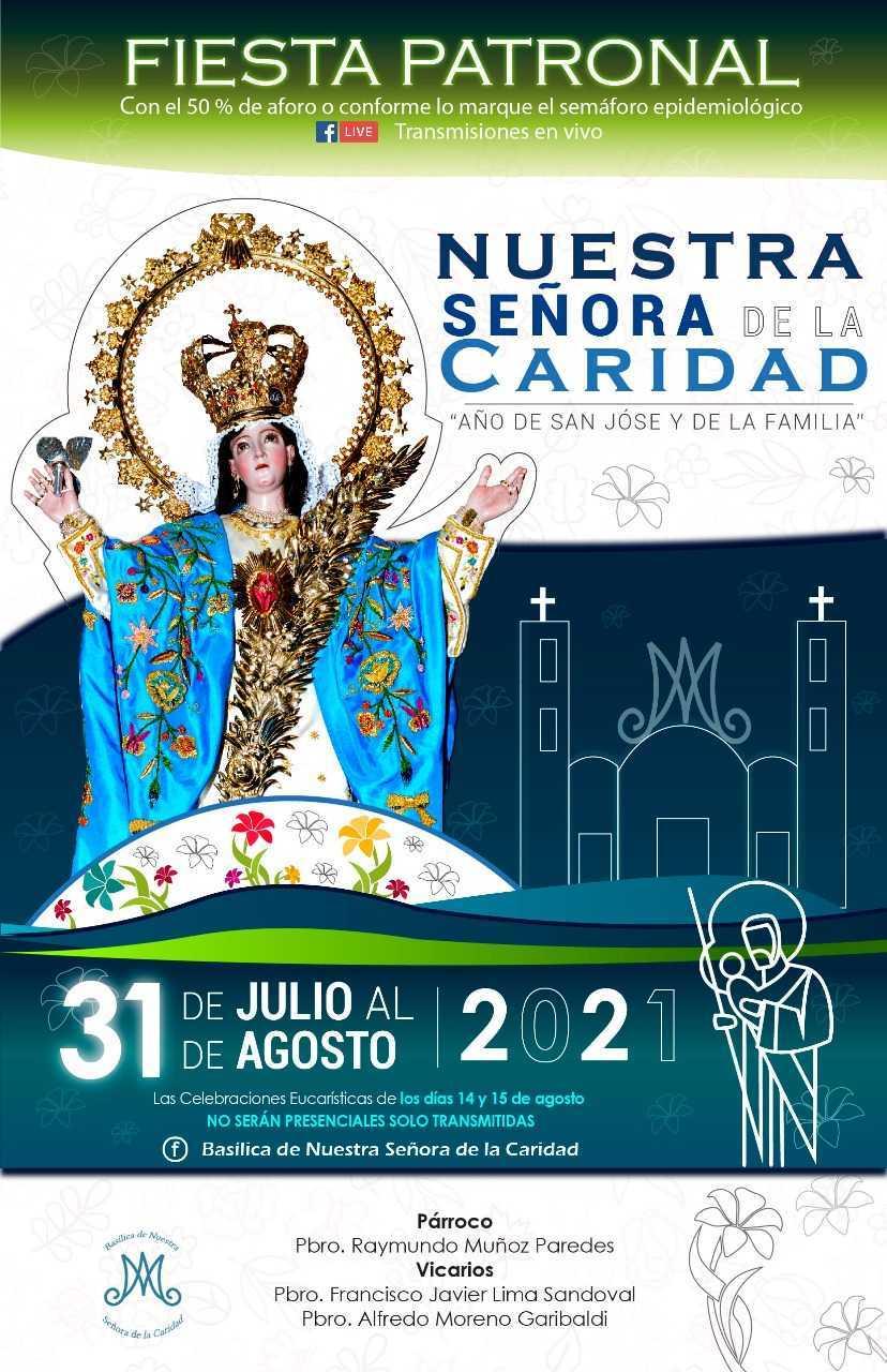 Todo listo para celebrar a la Virgen de la Caridad en Huamantla