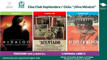 Cine Club del IMSS dedica septiembre a México
