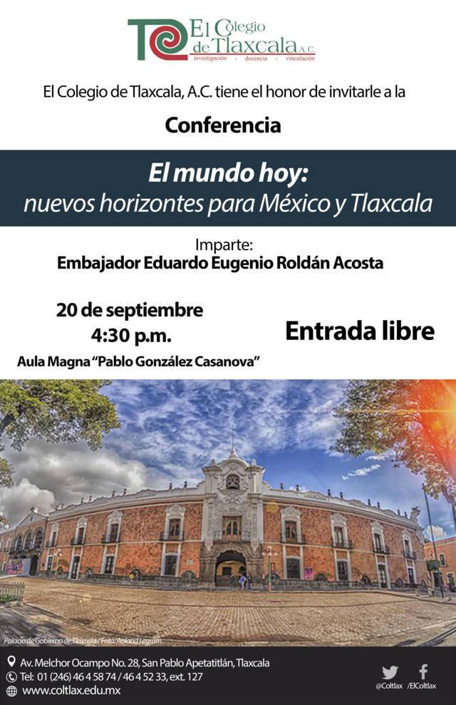 Dictará embajador Eduardo Roldán conferencia en El Coltlax