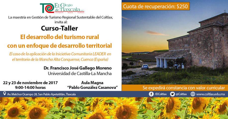 Impartirán en El Coltlax curso-taller sobre desarrollo rural