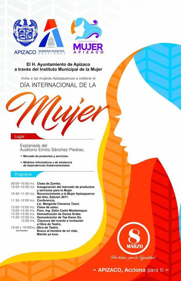 El H.Ayuntamiento de Apizaco te invita a conmemorar el día de la mujer