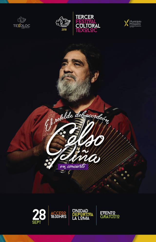 Celso Piña en el Tercer Festival Cultural de Texoloc