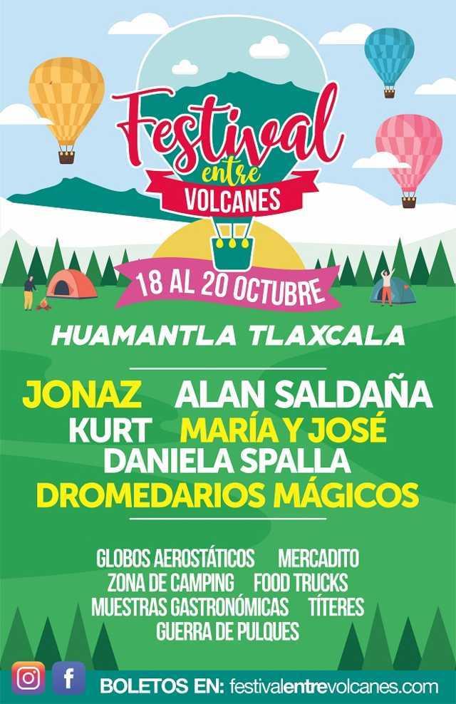 Festival Entre Volcanes  una experiencia musical, gastronómica y de aventura en medio del bosque de Huamantla