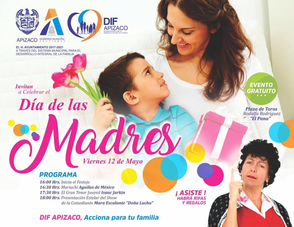 DIF APIZACO celebrará a lo grande el día de las madres