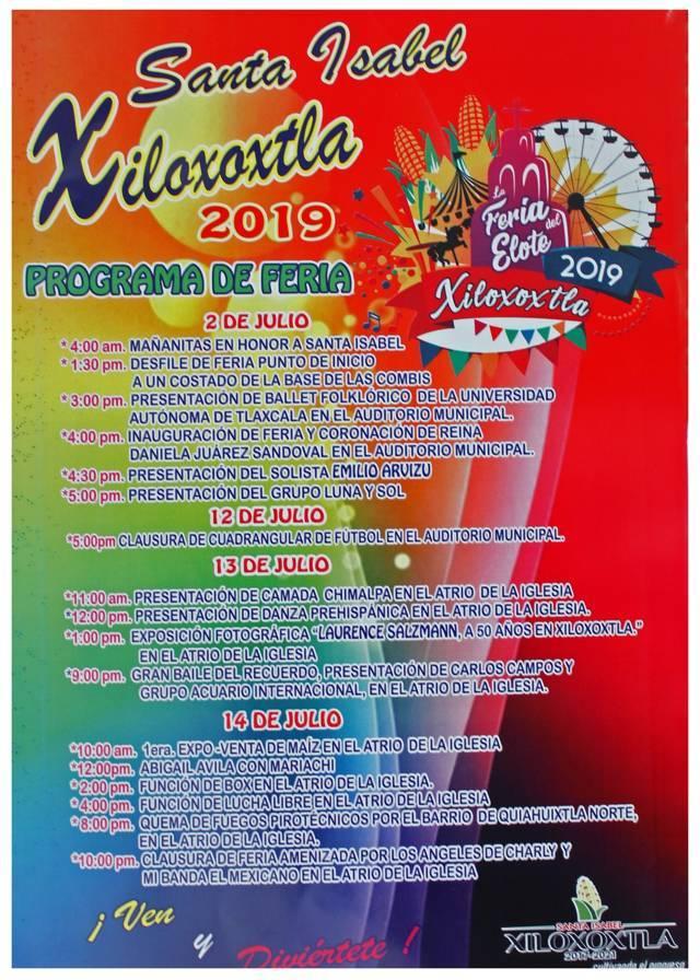 Alcalde alista la Feria del Elote Xiloxoxtla 2019 del 2 al 14 de julio