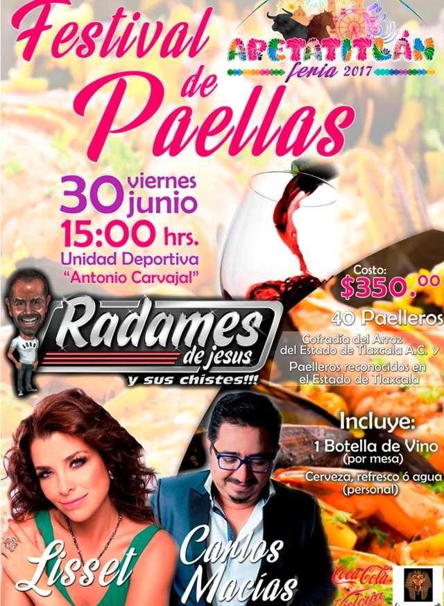 Con alta expectativa, hoy se presentan Carlos Macías y Lisset en las paellas de Apetatitlán