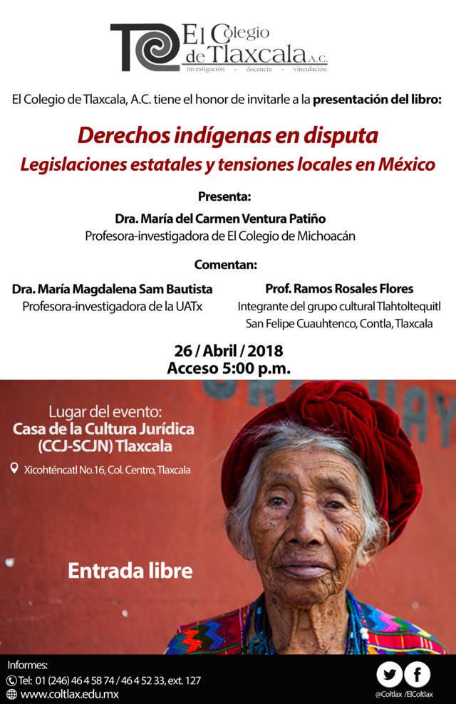 Presentarán libro sobre derechos indígenas
