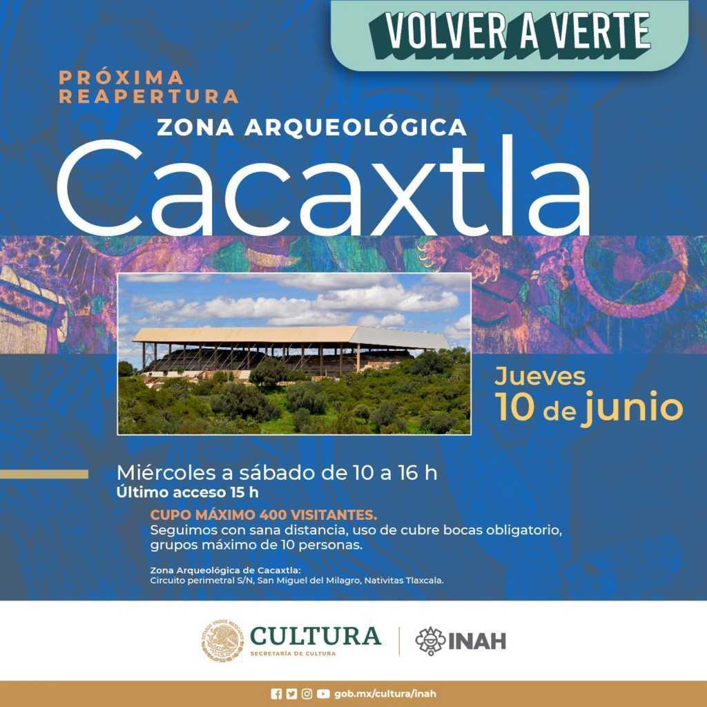 Se informa reapertura de la Z.A. Cacaxtla-Xochitécatl
