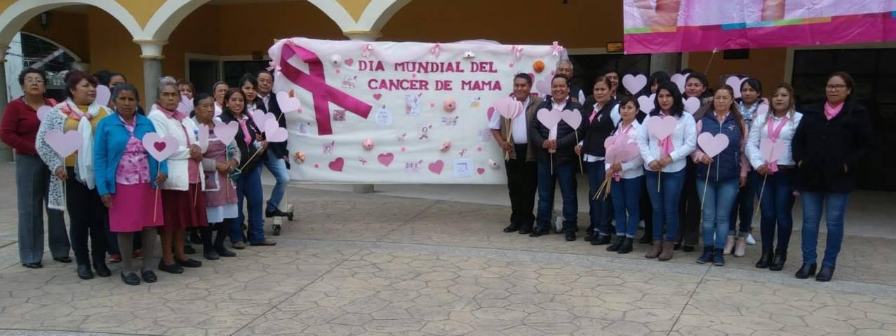 Con una caminata Ayuntamiento conmemora lucha contra el cáncer de mama