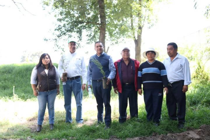 Realiza Ayuntamiento y vecinos reforestación en la Ciénega de Tepetlapa río de los negros