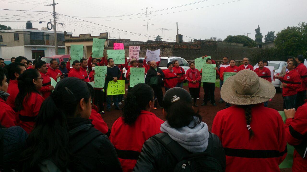 Piden trabajadores la salida de directora del CBTIS Texcalac