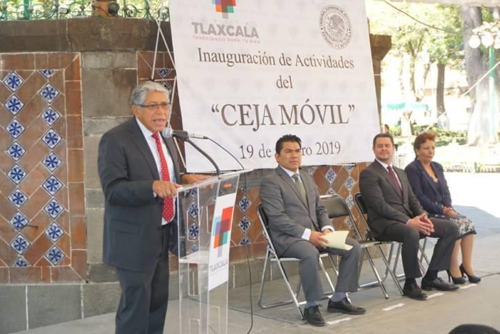 """Inauguran """"Ceja Móvil"""" ayuntamiento de Tlaxcala y TSJE"""