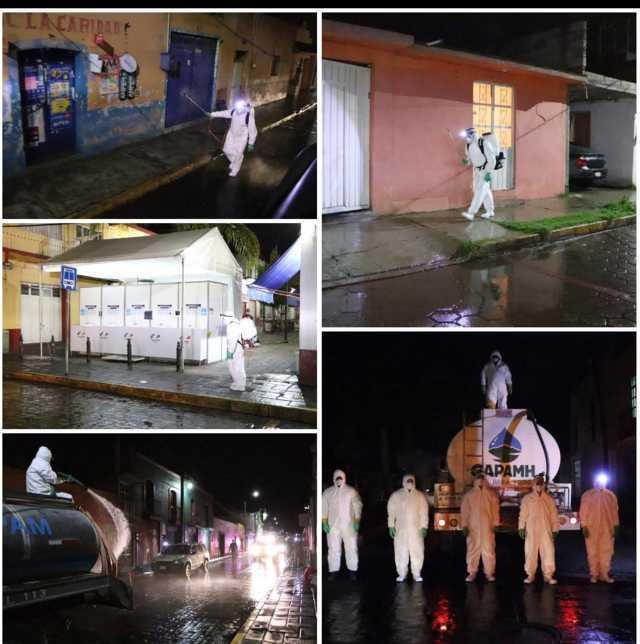 Realiza Gobierno de Huamantla 4ª y 5ª jornada de sanitización por diversos puntos de la ciudad