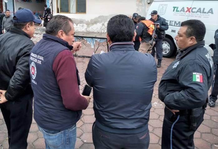 Brinda CEPC apoyo a la población por explosión en Apizaco
