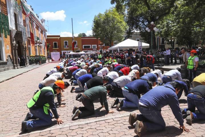 Participan más de 24 mil tlaxcaltecas en Macro Simulacro Nacional