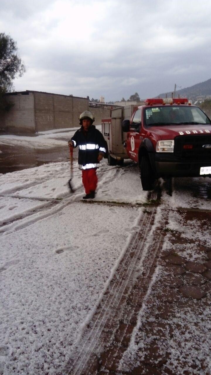 Activa CEPC protocolos de revisión tras granizada en Tlaxco