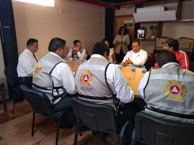 Acuerdan Protección Civil de Tlaxcala y Puebla trabajo conjunto ante actividad volcánica