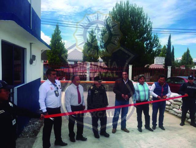 La CES inaugura un nuevo filtro de control regional en Tzompantepec