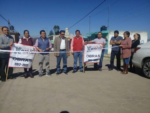 Sánchez Amador continúa realizando obras en beneficio de la población