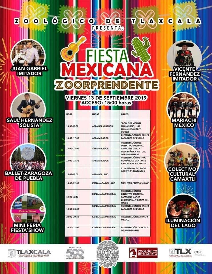 Celebrará CGE Fiesta Mexicana en el Zoológico de Tlaxcala