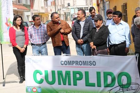 Entregan en Chiautempan tres obras de rehabilitación de drenaje