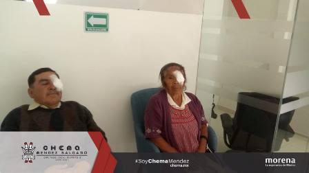 Chema logra satisfactoria jornada de operaciones de cataratas