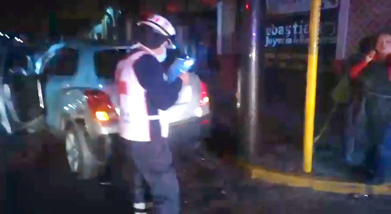 Choque en avenida principal de la capital tlaxcalteca