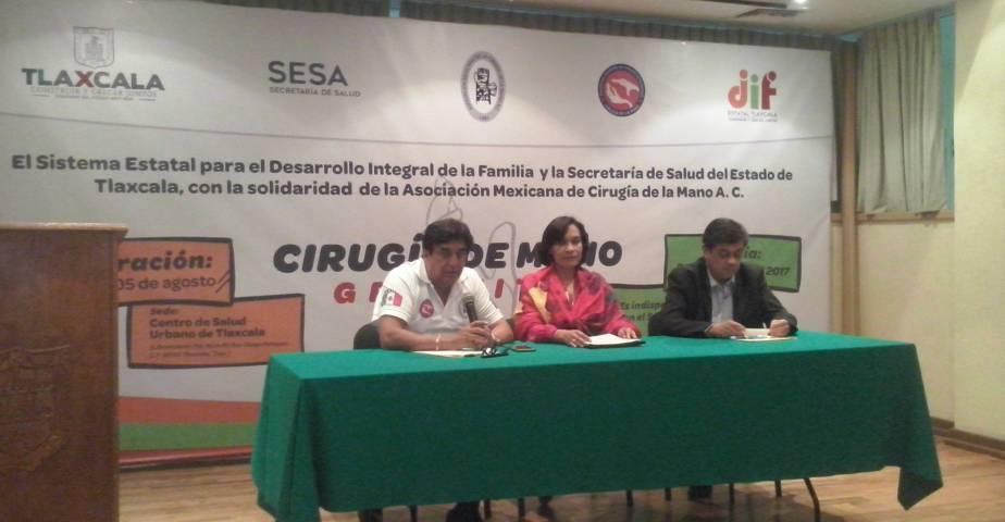 Aplicarán hasta 40 cirugías de mano en Primera Jornada en Tlaxcala