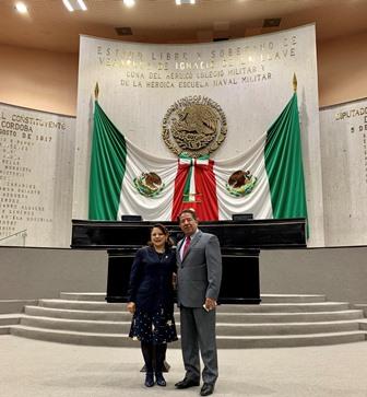 Recibe presidente del Congreso de Veracruz a la Diputada Claudia Pérez