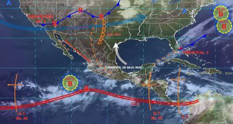 Pronóstico del tiempo en México para jueves 10 de octubre del 2019