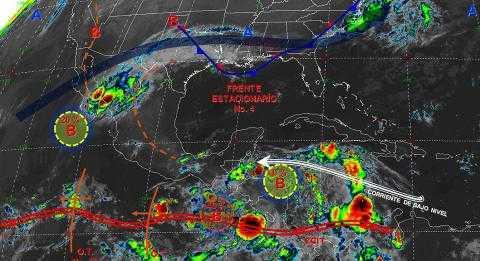 Pronóstico del tiempo en México para lunes 14 de octubre del 2019
