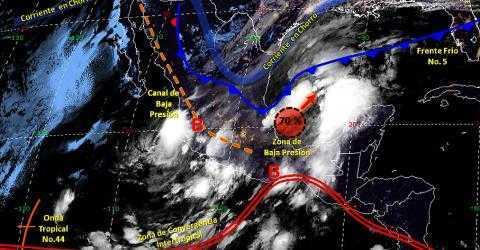 Pronóstico del tiempo en México para jueves 17 de octubre del 2019