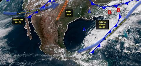 Pronóstico del tiempo en México para miércoles 10 de abril del 2019