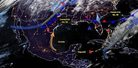 Pronóstico del tiempo en México para jueves 11 de abril del 2019