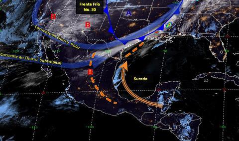 Pronóstico del tiempo en México para viernes 12 de abril del 2019